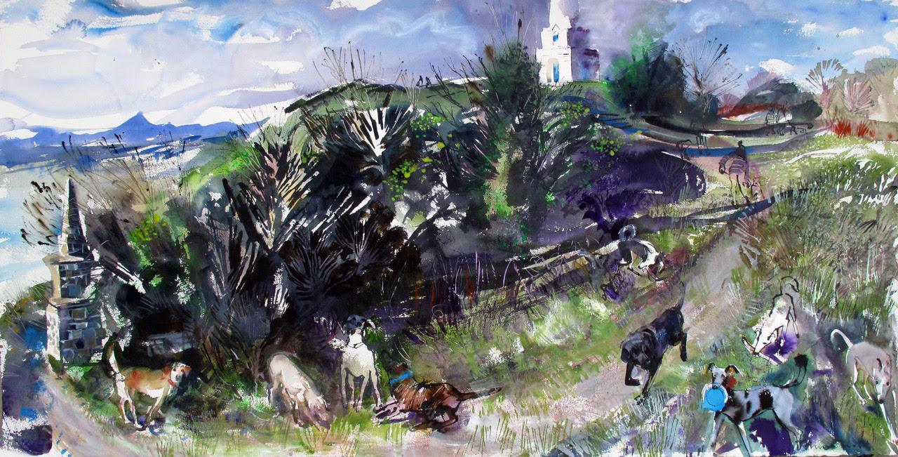 Dogs on Killiney Hill, Dalkey, County Dublin