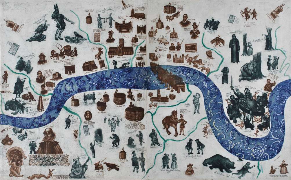A Map of Shakespeare's London