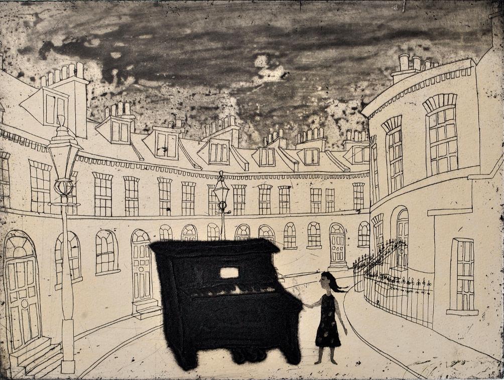 Urban Myths IV, Street piano in Keystone Crescent